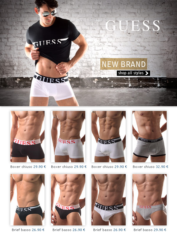 New Guess Underwear at Oboy