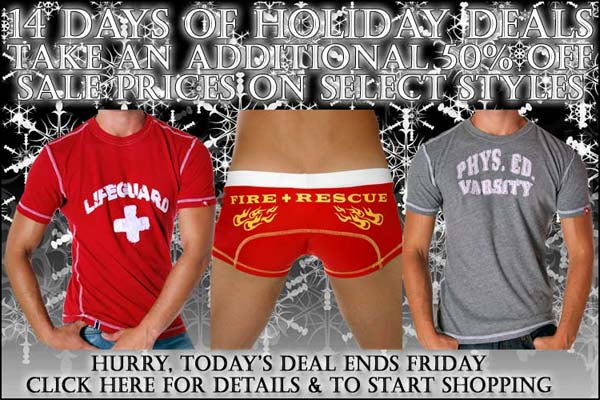 Andrew Christian Days Of Holiday Deals: Day 2 - 50% Off Select Items!!!