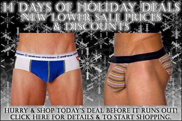 Andrew Christian Days Of Holiday Deals: Day 5 - New Lower Sale Prices