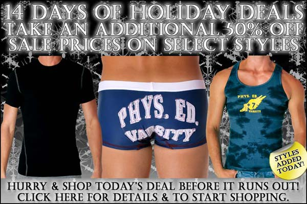 50% Off New Daily Styles at Andrew Christian - Days of Holiday Deals: Day 11