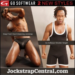 New Enhancing Snap Jockstrap and Wrestling singlet at Jockstrap Central