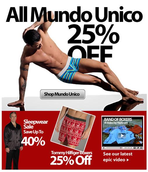Mundo Unico 25% Off Now At HisRoom