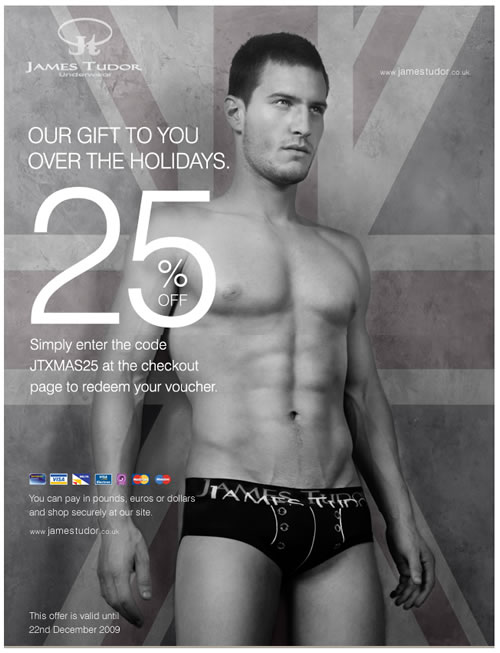 Think outside of the boxer this Christmas with James Tudor