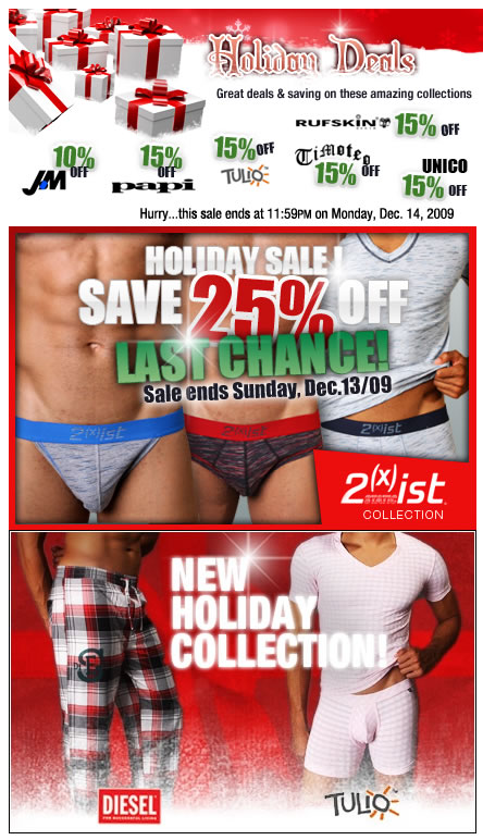 HOLIDAY DEALS + 2(X)IST SALE ENDS SOON AT MALESTROM