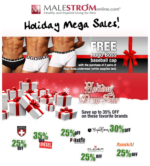 HOLIDAY MEGA SALE + FREE GIFT + MUCH MORE AT MALESTROM