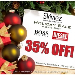 35% OFF ALL Hugo Boss and Diesel – This Weekend Only at Skiviez