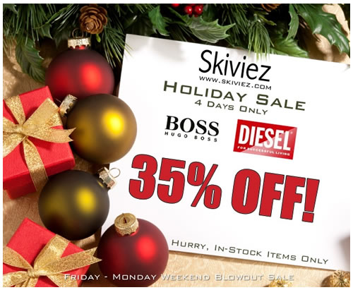 35% OFF ALL Hugo Boss and Diesel - This Weekend Only at Skiviez