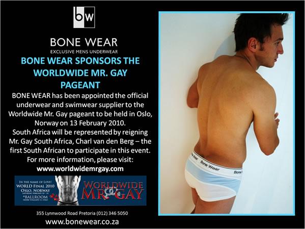 BONE WEAR Sponsors the Worldwide Mr. Gay Pageant in Norway