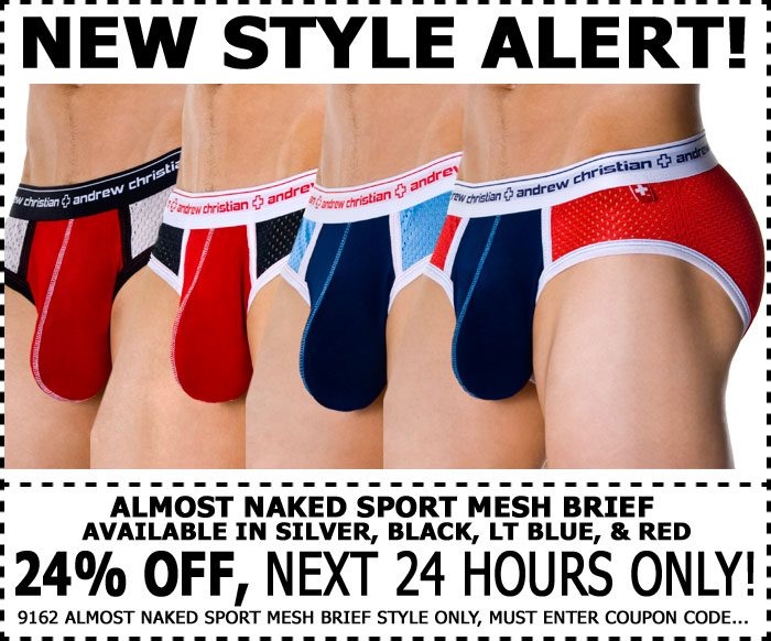 Andrew Christian Almost Naked Sport Mesh Brief