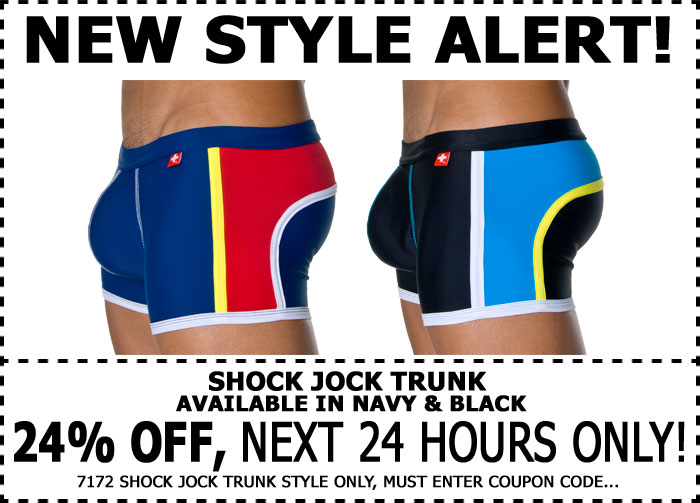 24% Off Andrew Christian Shock Jock Trunk - 1 Day Only!!!