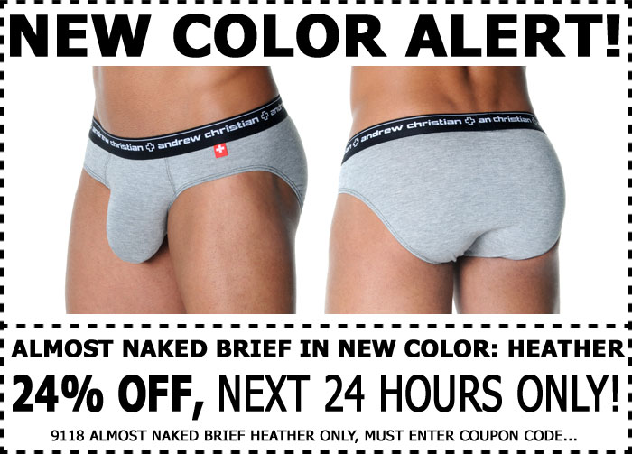 Almost Naked Andrew Christian Brief - 24% Off - Next 24 Hrs Only