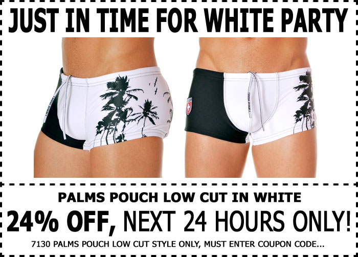 Andrew Christian 24% Off Palm Pouch Low Cut Trunk - 1 Day Only!