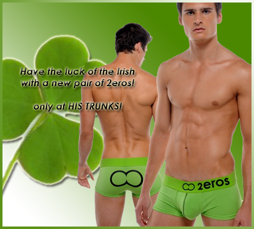 Celebrate St. Patricks day with 2eros and HisTrunks