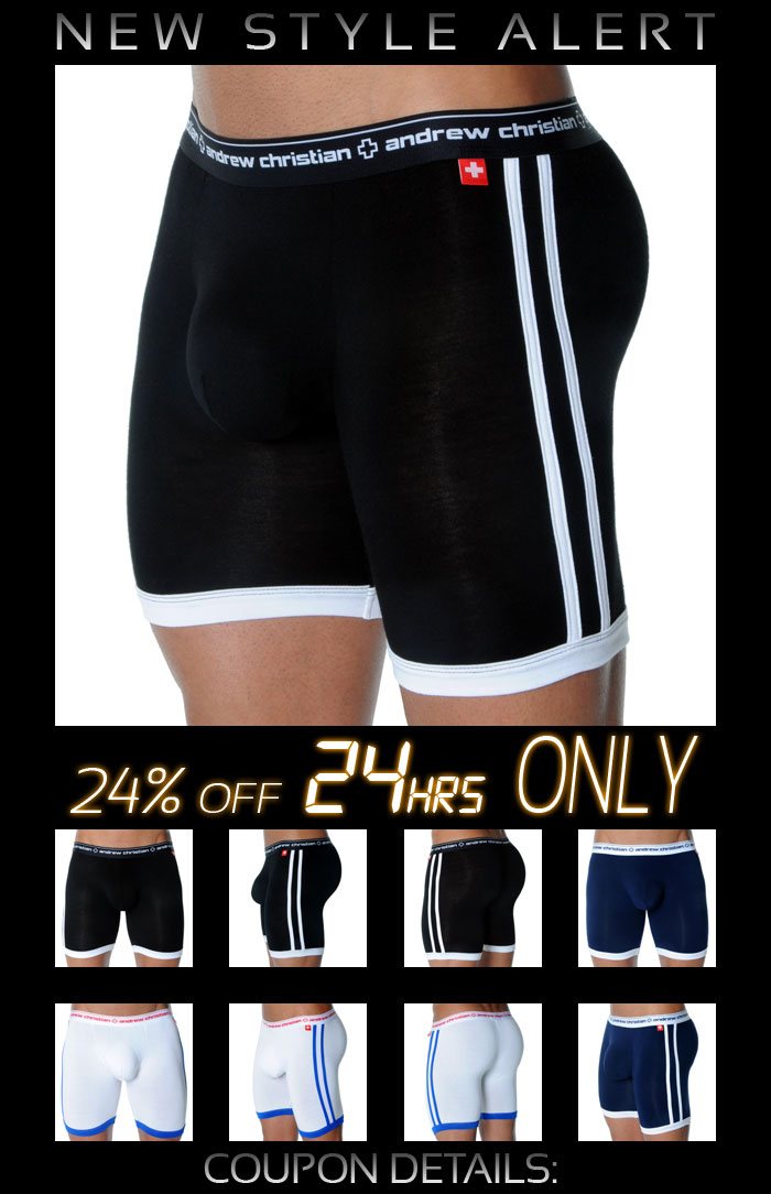 Andrew Christian Almost Naked Sports Boxer - 24% Off Next 24 Hrs Only