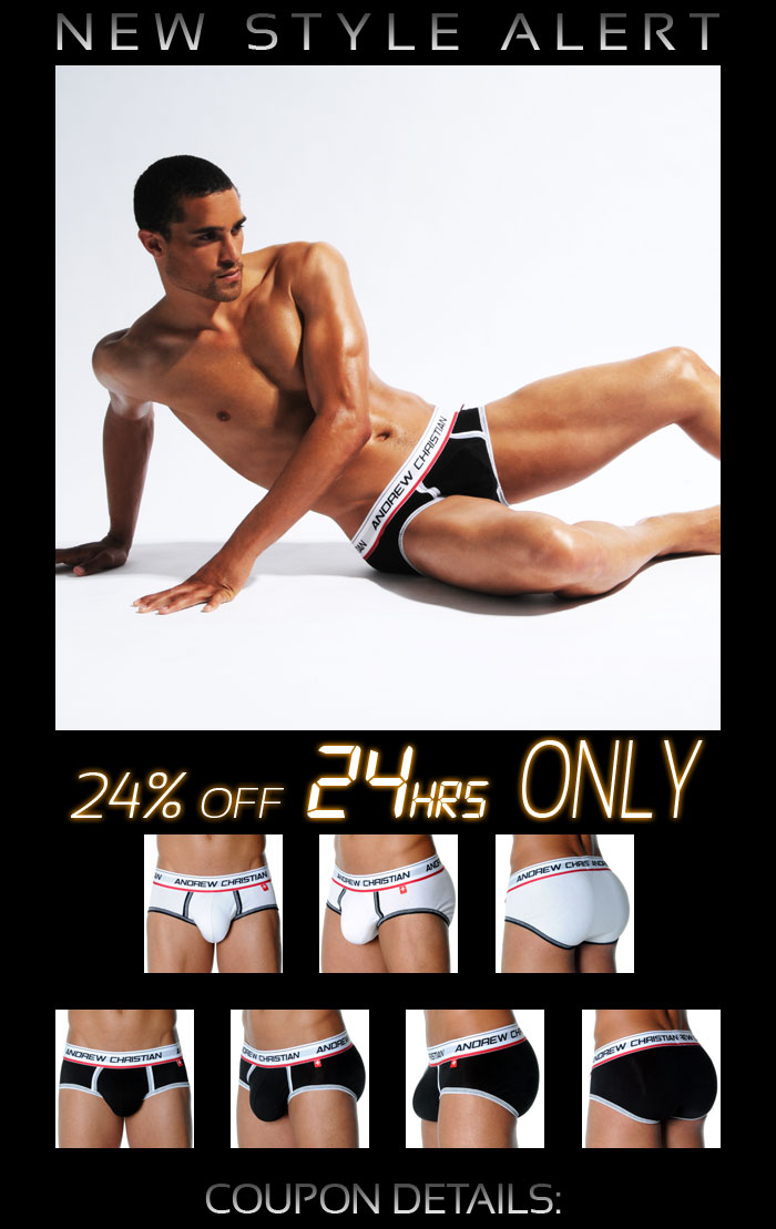 Andrew Christian New FlexSoft Brief 24% Off - Next 24 Hrs Only!