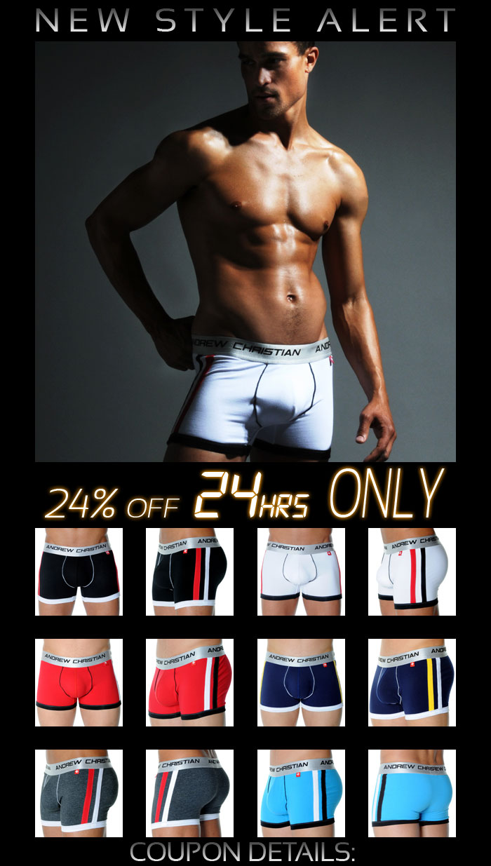 Andrew Christian Shock Jock Sports Brief 24% Off Next 24 Hrs