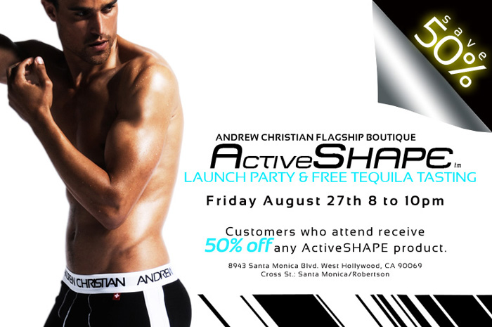 Designer Andrew Christian's Newest Enhancing Product ActiveSHAPE Promises an INSTANT Bubble Butt