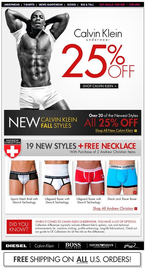 Fresh Pair 25% off Calvin Klien