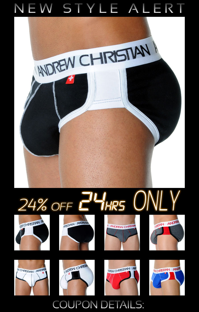 24% Off ActiveSHAPE Brief from Andrew Christian - Next 24 Hrs Only!