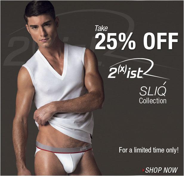 25% off 2xist SLIQ Colleciton at UnderGear