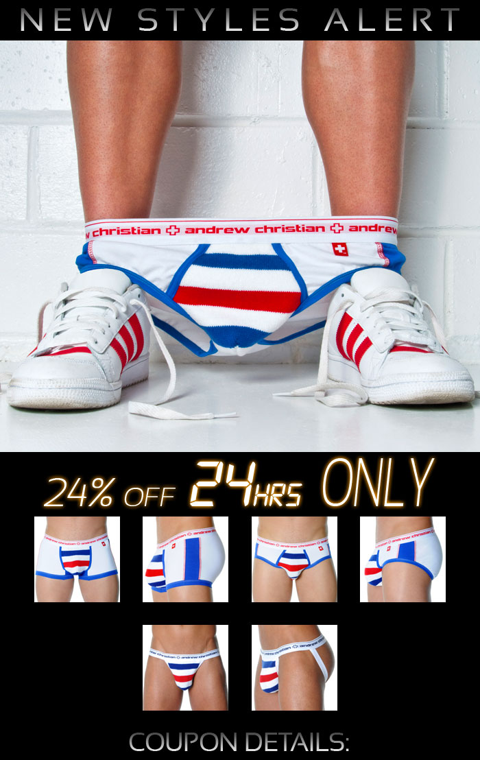 Andrew Christian 3 Home Run Styles - 24% Off Next 24 Hrs Only