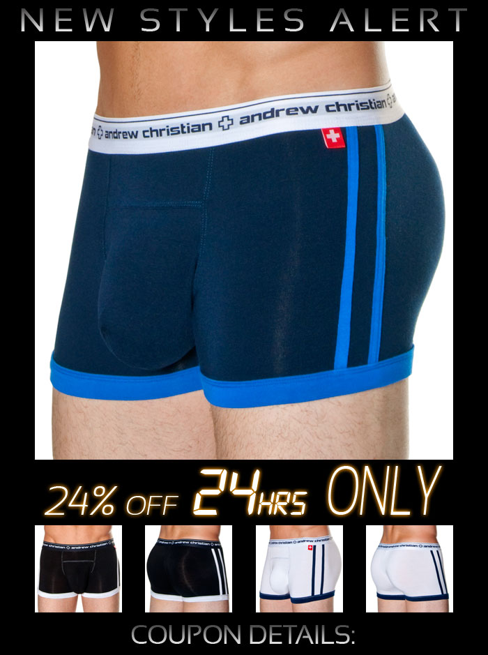 Andrew Christian Hip Boxer 24% Off - Next 24 Hrs Only!