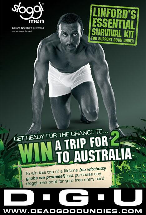 Win a Trip to Australia from Dead Good Undies and Sloggi
