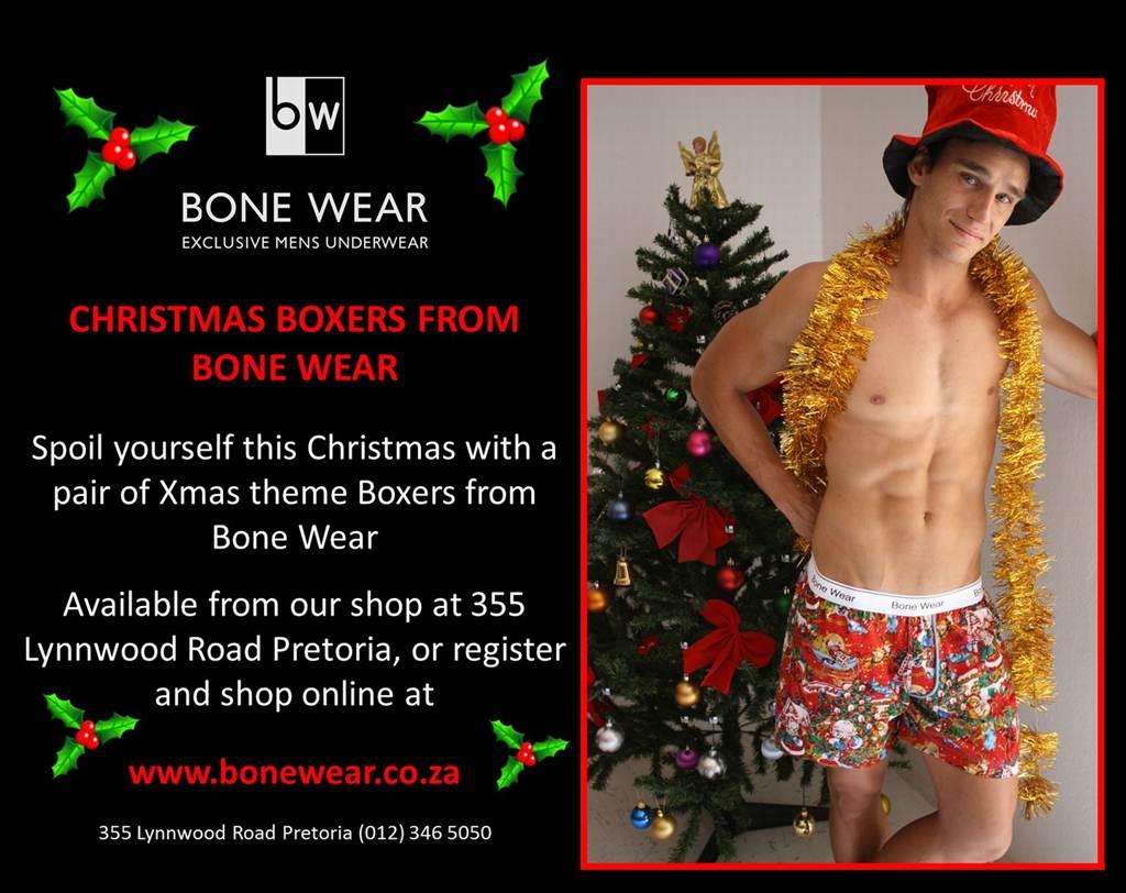 Christmas Underwear From Bone Wear