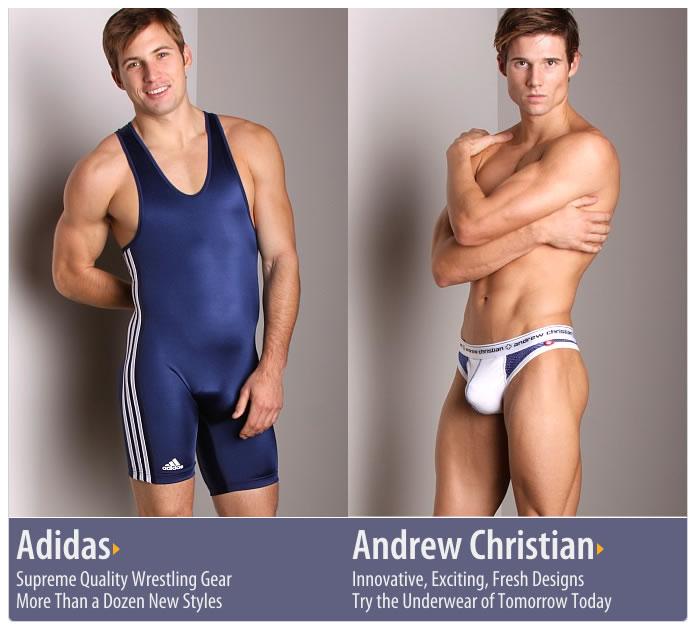 New Andrew Christian Flirt, Almost Naked & New Adidas Wrestling Singlets at International Jock