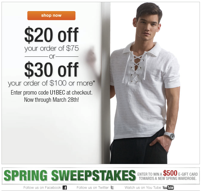 Enter To Win Your Spring Wardrobe at UnderGear