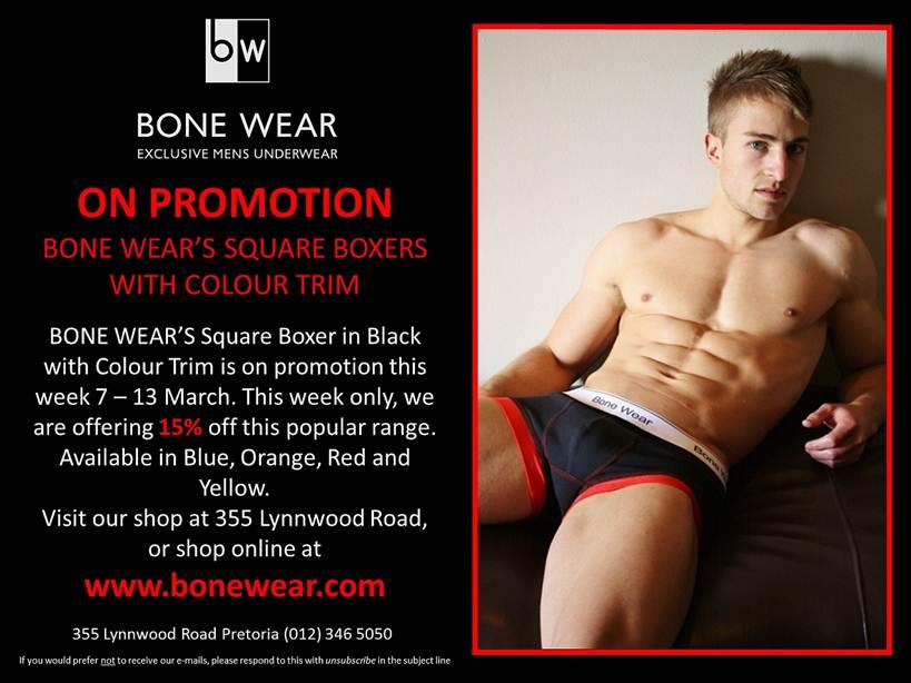 Bone Wear Square Boxers!