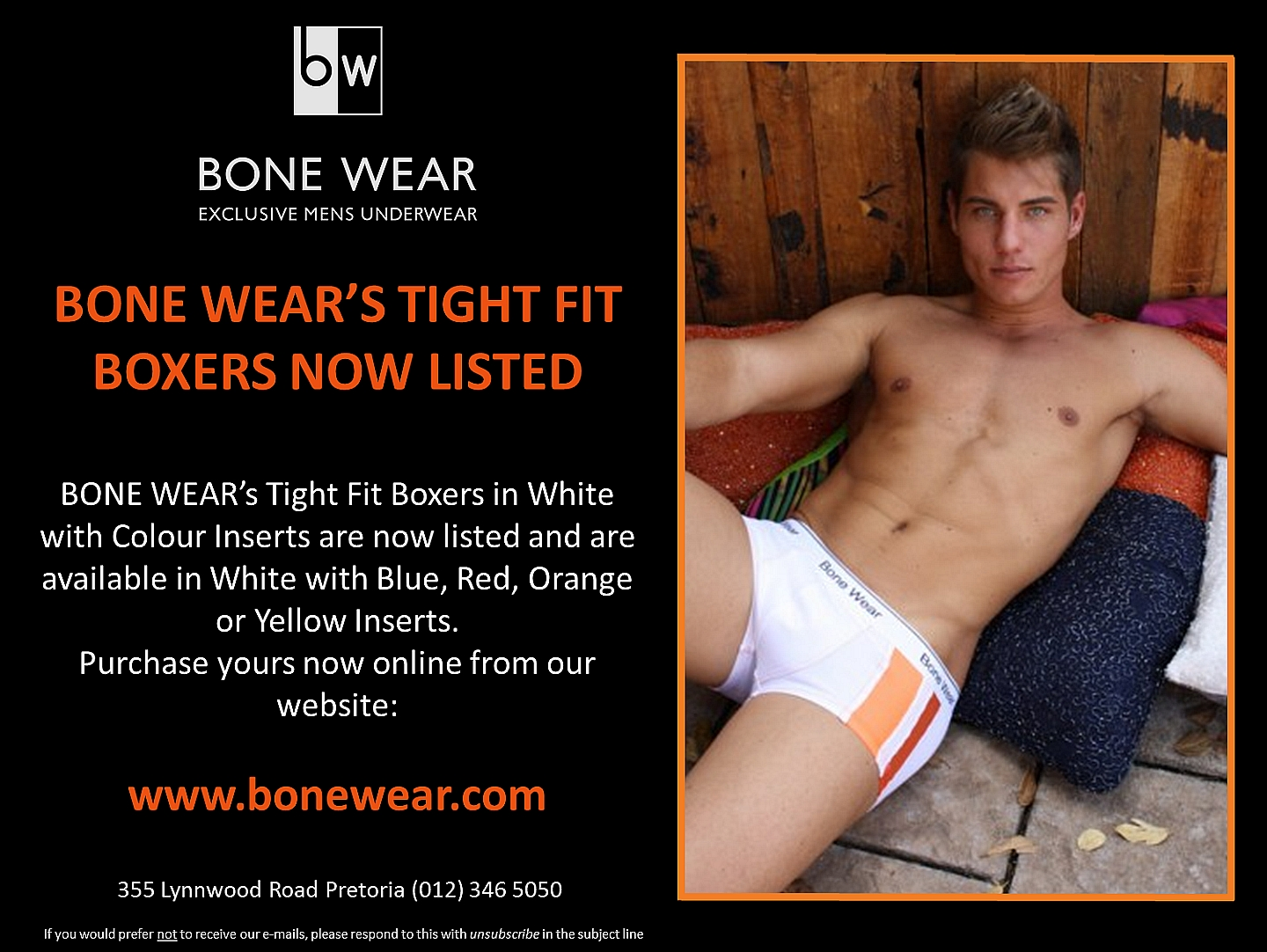 BONE WEAR's Tight Fit Boxers now available