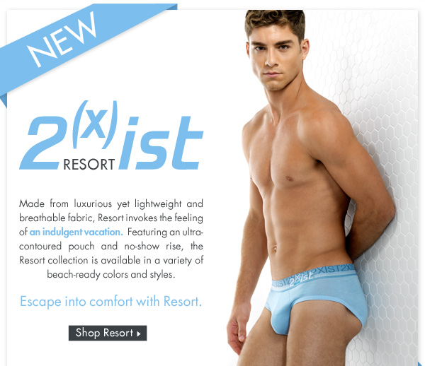New! 2(x)ist Resort Collection at Freshpair