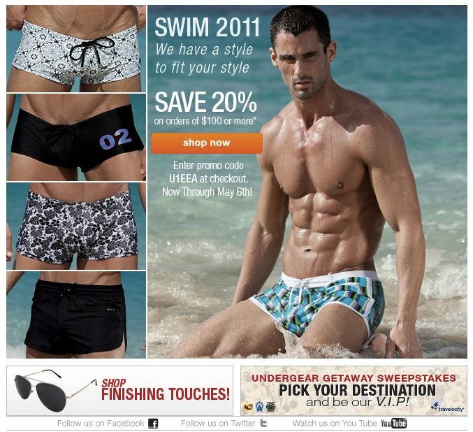 NEW Swim Collection and Save 20% at UnderGear
