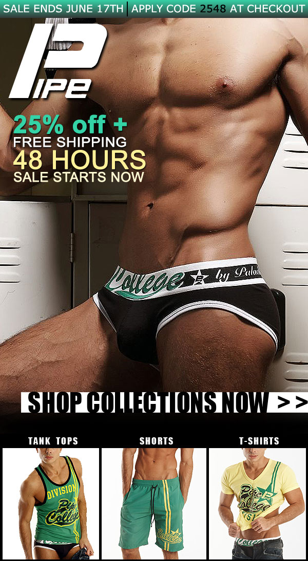 Pipe Underwear 25% off + Free Shipping - 48 hours only