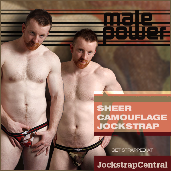 JUST IN AT JOCKSTRAP CENTRAL: MALE POWER SHEER CAMO JOCKS