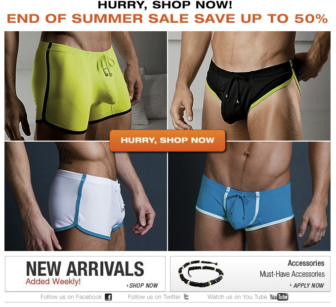 Shop now, limited quantities 50% off at UnderGear
