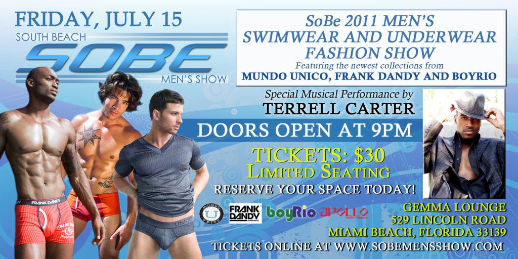 South Beach Men's Show Sizzles July 15