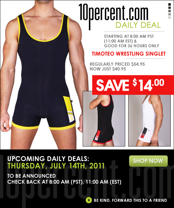 10Percent.com's Daily Deal - Sporty New Timoteo Singlet