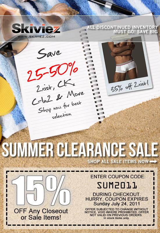 Summer Clearance + 15% OFF Bonus Coupon at Skiviez
