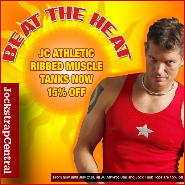 BEAT THE SUMMER HEAT WITH 15% OFF JC ATHLETIC TANK TOPS