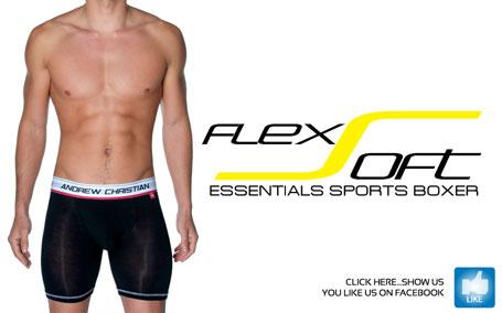 Andrew Christian FlexSoft Essentials Sports Boxer - Just $28