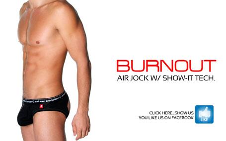 Andrew Christian Burnout Air Jock w/ Show-It Tech