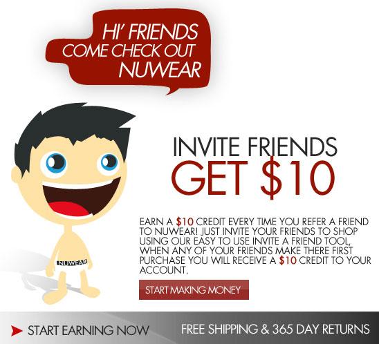 Earn money for referring friends at NuWear