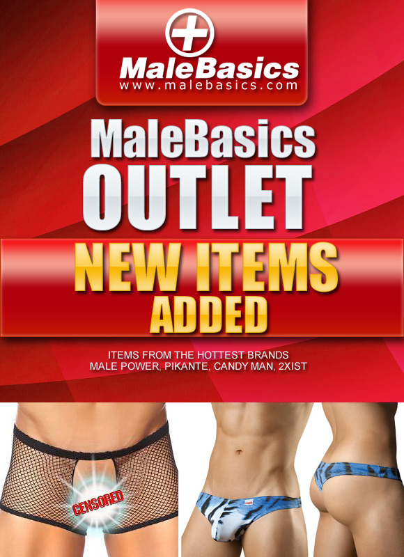 New Items added to the outlet store at MaleBasics