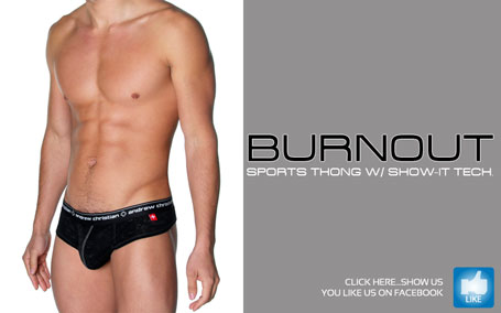 Andrew Christian Burnout Sports Thong w/ Show-It Tech
