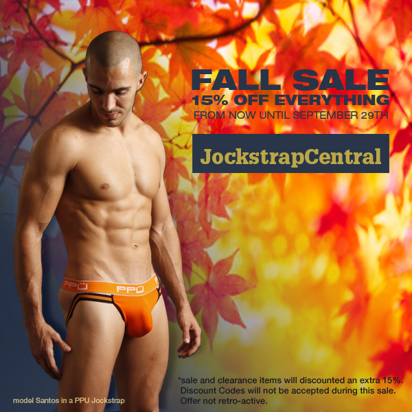 JOCKSTRAP CENTRAL FALL SALE - 15% OFF EVERYTHING STOREWIDE