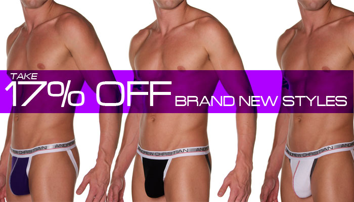 Andrew Christian Show-It Low Profile Jock, 17% Off Next 48 Hrs Only