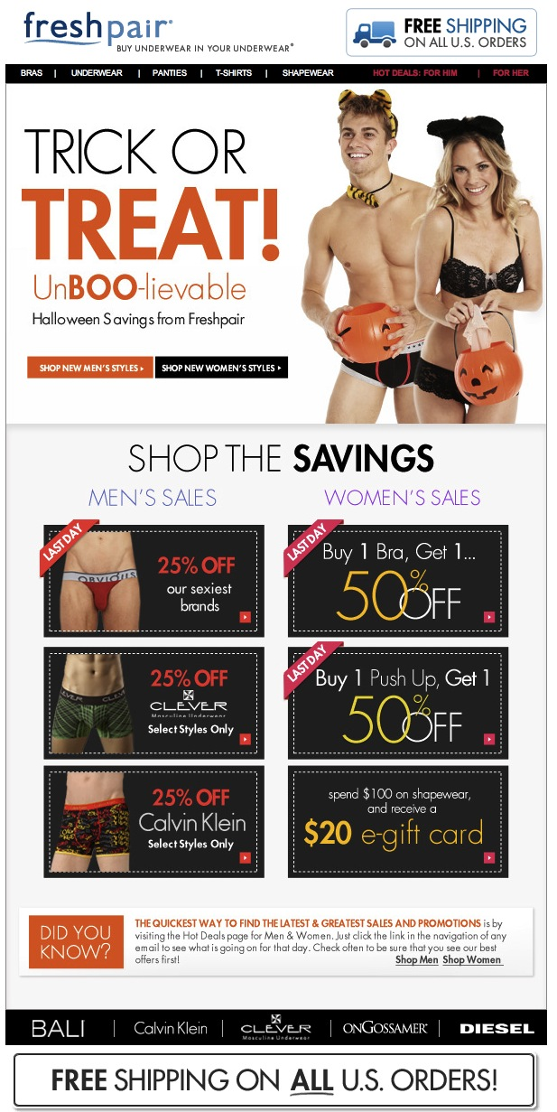 Happy Halloween from Freshpair | UnBOO-lievable Savings