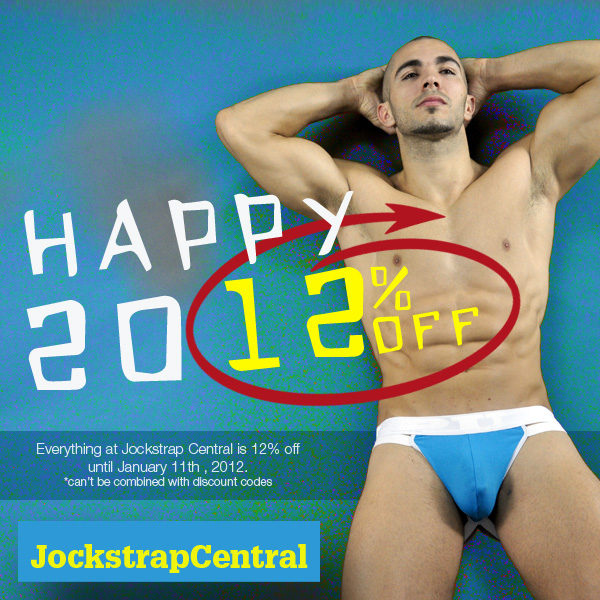 CELEBRATE 2012 WITH 12% OFF AT JOCKSTRAP CENTRAL